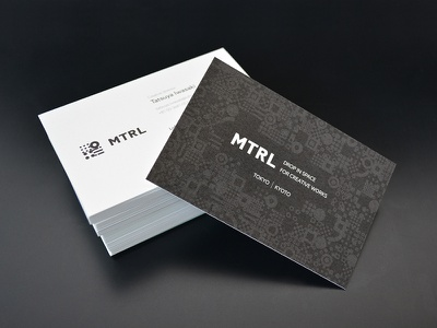 MTRL_Business card business card kyoto japan co-working brand identity logo