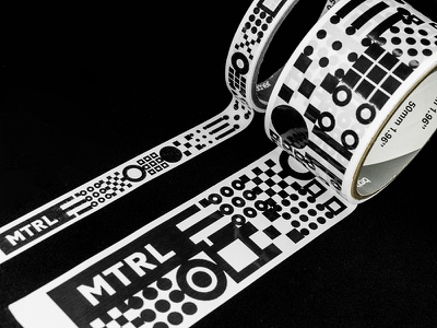 MTRL_Packing tape tape packing kyoto japan co-working logo identity brand