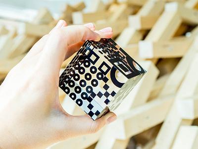 MTRL_Acrylic cube 1 fab acrylic cube sticker logo kyoto japan identity co-working brand