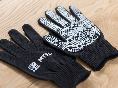 MTRL_Working glove woking glove logo kyoto japan identity co-working brand