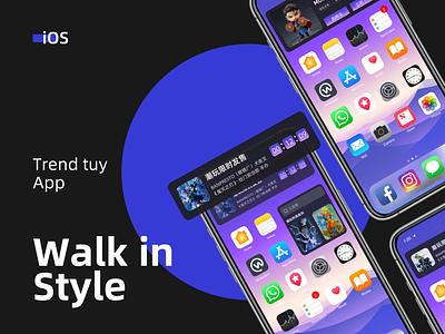 iOS14 module plaything module shadow ios app design ios app shopping garage kits count down list branding ux home icon design dailyui ui