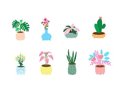 Senyu App icons cute pot culture botanbotany logo app illustration branding home icons icon design dailyui ui