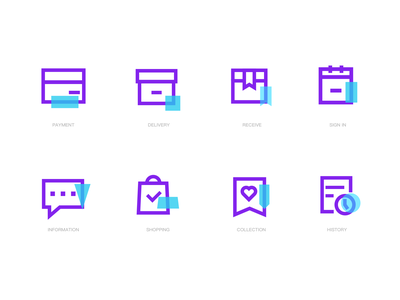 icons sets for CHAOWAN linear icons linear typography illustration branding icons home ux icon design dailyui ui