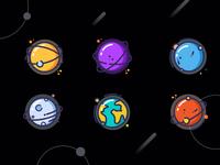星芒星球图标设计