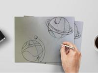 星球图标手绘稿