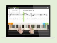 Skoove Piano Trainer UI Design