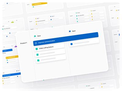 Productboard's Roadmap Thumbnails templates grid tiles cards ui roadmap thumbnails cards uidesign ui