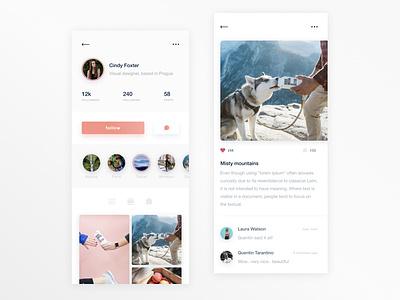 Instagram retouch cocept user profile redesign retouch concept photos profile user interface mobile ui ui design uidesign ui design app