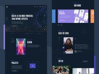 Studio website concept