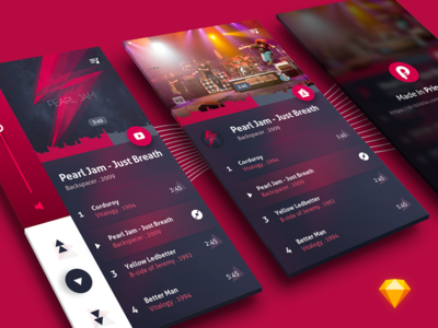 New Music Player Concept  prototype principle music player sketch