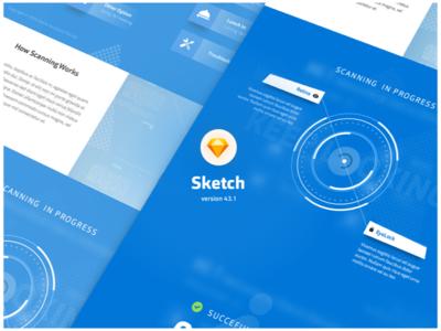 Scanning Website website sketch