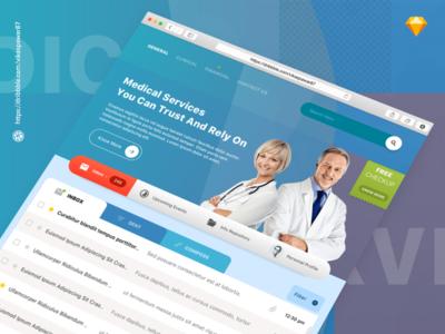 Healthcare Website Design  website ux ui concept sketch