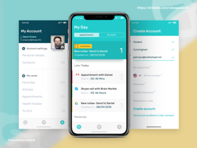 Appointment Tracker appointment tracker ui ux sketch