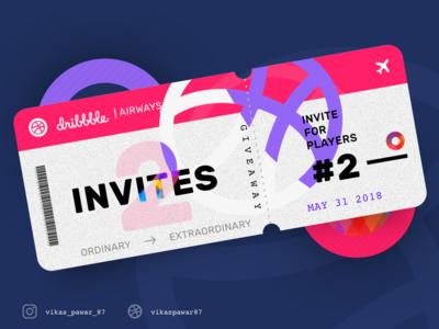 Hey Guys, I have 2 dribbble invites to share...