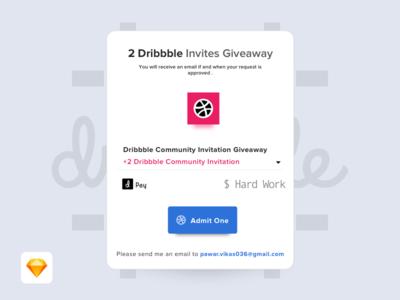 Hey Guys, I have 2 dribbble invites to share... invitation dribbble