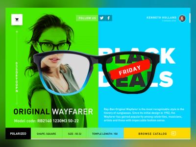 Black Friday Sale website concept ui ux sketch