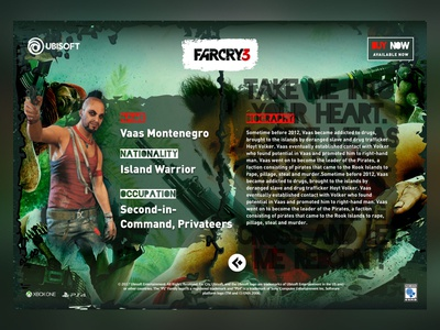 This is one for Vaas , Farcry 3 on ipad ❤ farcry keynote ux ui sketch