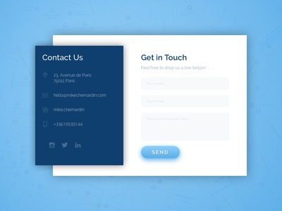 Daily UI 028 - Contact Us