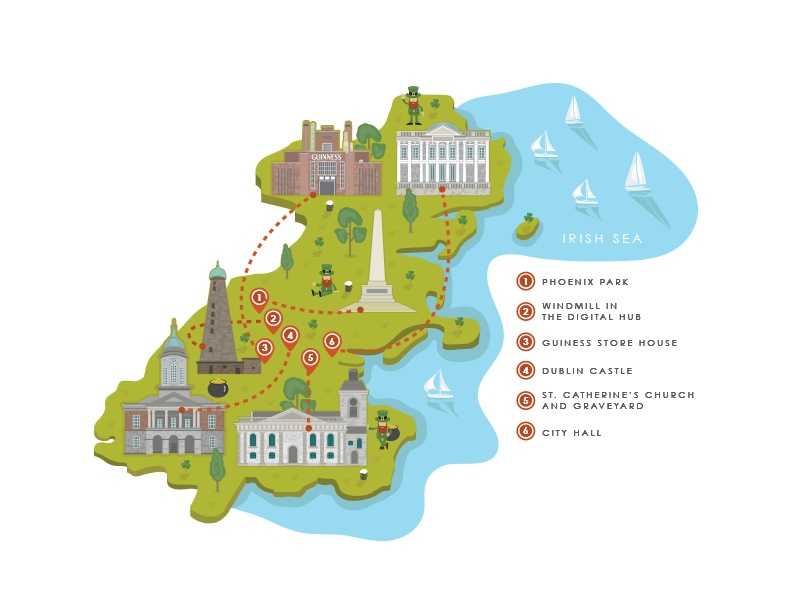 Dublin Map by Jaco Oosthuyzen on Dribbble on