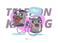 Telepon Kaleng Cartoon