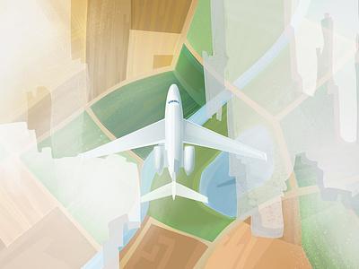 Aeron Flight Safety air sky travel airport animation illustation airplane