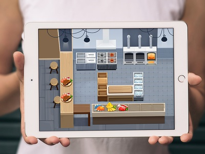 Game Art Concept casual cheese fish furniture scene icon food game art game kitchen