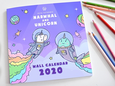 Narwhal and Unicorn coloring Book