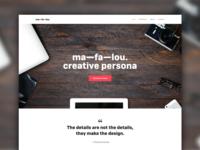 Homepage Website Mafalou