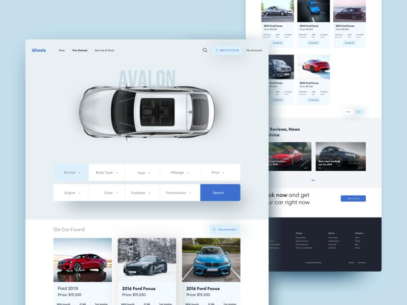 Wheels - Car Dealer website agency ux ui visual design landingpage webdesign selling parts car dealership car sell car buy car