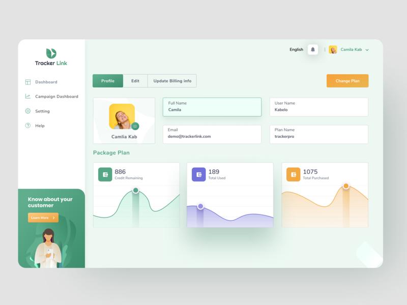 Dashboard Profile Screen - Backlinks Monitor application control webdesign high ranking seo monitoring monitoring dashboard profile app app backlinks