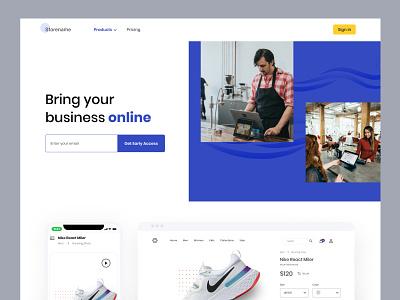 Store - Homepage landing page uxdesign ui shop website shopping storemaker shopping app shop