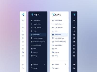 Sidebar Navigation for Klovercloud webapp design webapp webapplication paas uxdesign uidesign side menu klovercloud navbar nav sidebar navigation sidebar sidebar menu