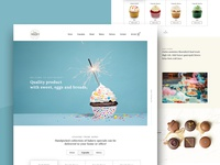 Bakery - Cake shop Website Design