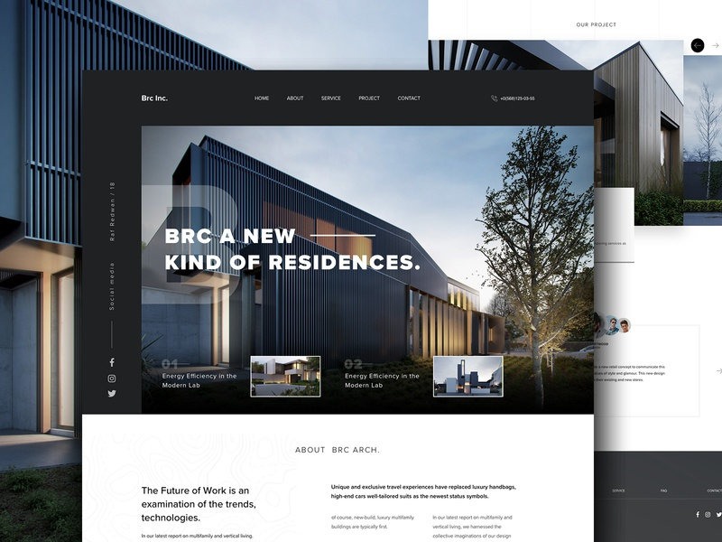 Architecture website architecture design property real estate website minimal landing page building architecture