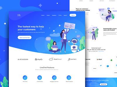 ChatBot Landing Page gradiant webdesign ui ux landing page trend chatbot chatbot landing page chat