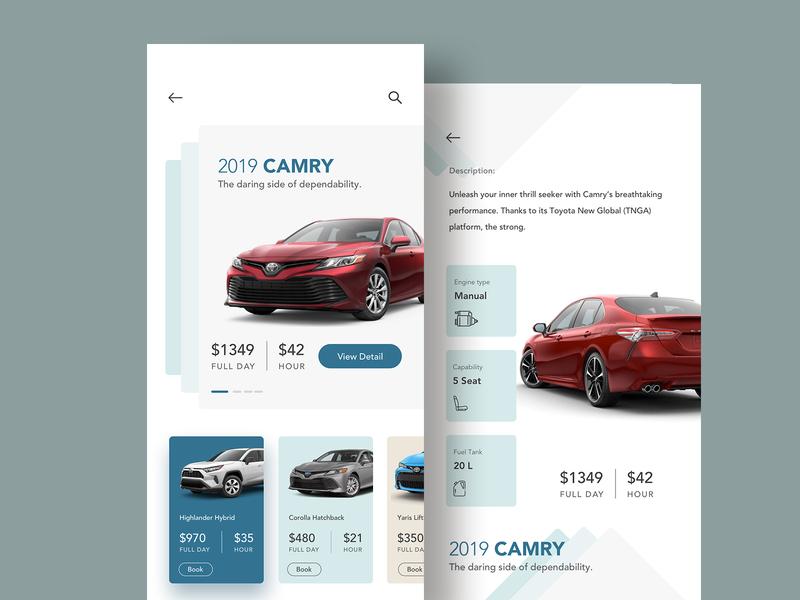 Car Rent App UI by Raf Redwan for Crunchy on Dribbble