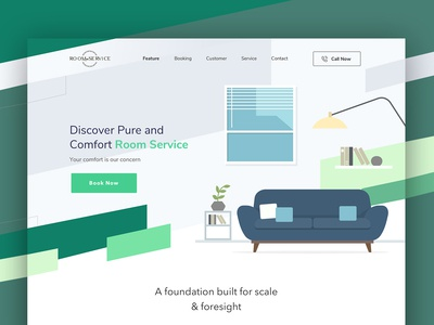 Room Service Landing Page
