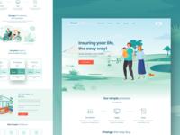 Pixiquote - Insurance landing page