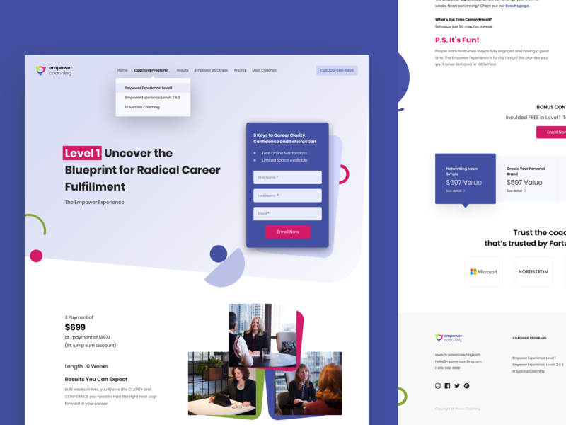 Empower - Inner page Style 02 website design webdesign web ux ui typogaphy startup professional leadership growth programme coaching coach career business agency