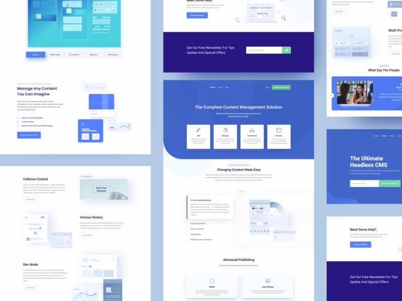 L - CMS Website Landing website builder content management system cms ux ui agency visual design webdesign website landing page