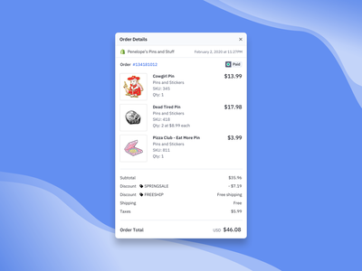 Order Details for E-commerce Customers customers ecommerce shop ecommerce design status chip ux ui layout design ecommerce layout
