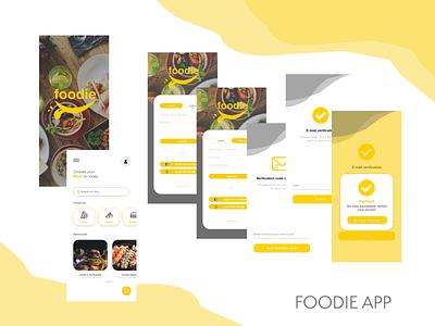 Foodie App app logo ux design
