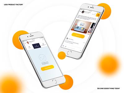 Dogood iOS app ui orange factory looi ios appliaction app