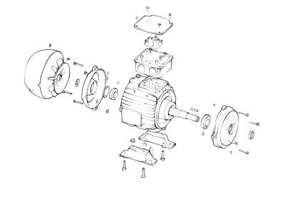 Asynchronous Motor automotive industrial design illustration