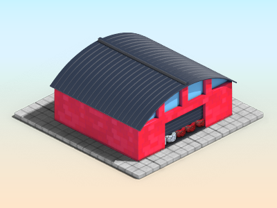 HMF Ville - Coca-Cola 3d game lowpoly building cocacola coke isometric miniature monsterjuice