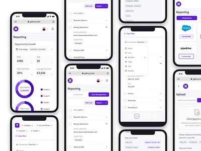 Report Responsive 📈 dashboard ui crm adaptive responsive design responsive mobile web graph dashboard mobile