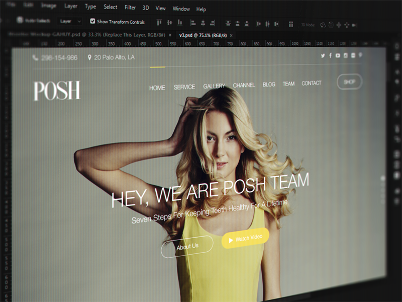 [WIP] Beauty Makeup Header ui design web design screen visual ui header posh onepage homepage service makeup beauty