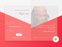 Daily UI #01 Sign Up - Freebies