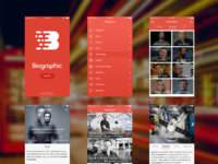 Biographic app preview