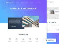 Architecture Concept - Free PSD